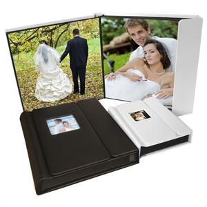 PhotoFusion 8x10 Self Stick Album (20 photos) Black with Overlap